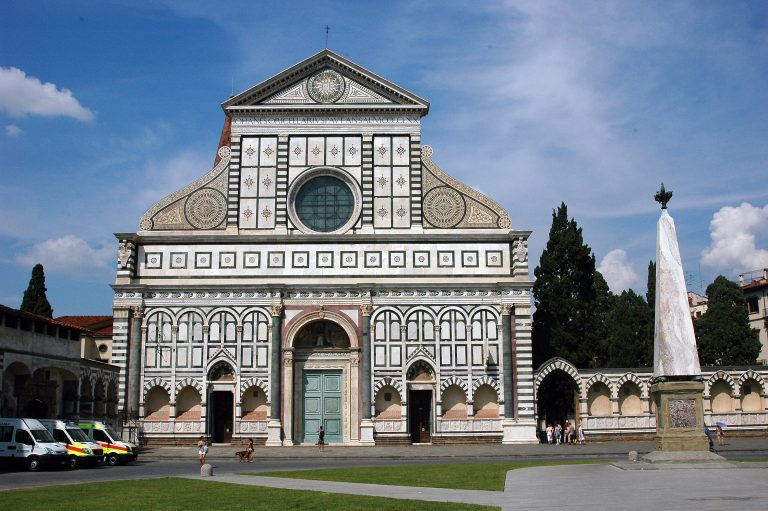Photo of the Santa Maria Novella from Lyndsey's blog post entitles ARCH for Non Majors Blog 1