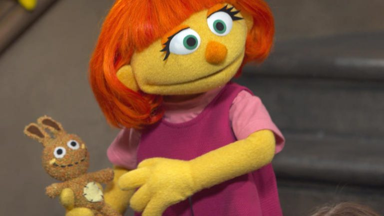 A photo of the Sesame Street character Julia