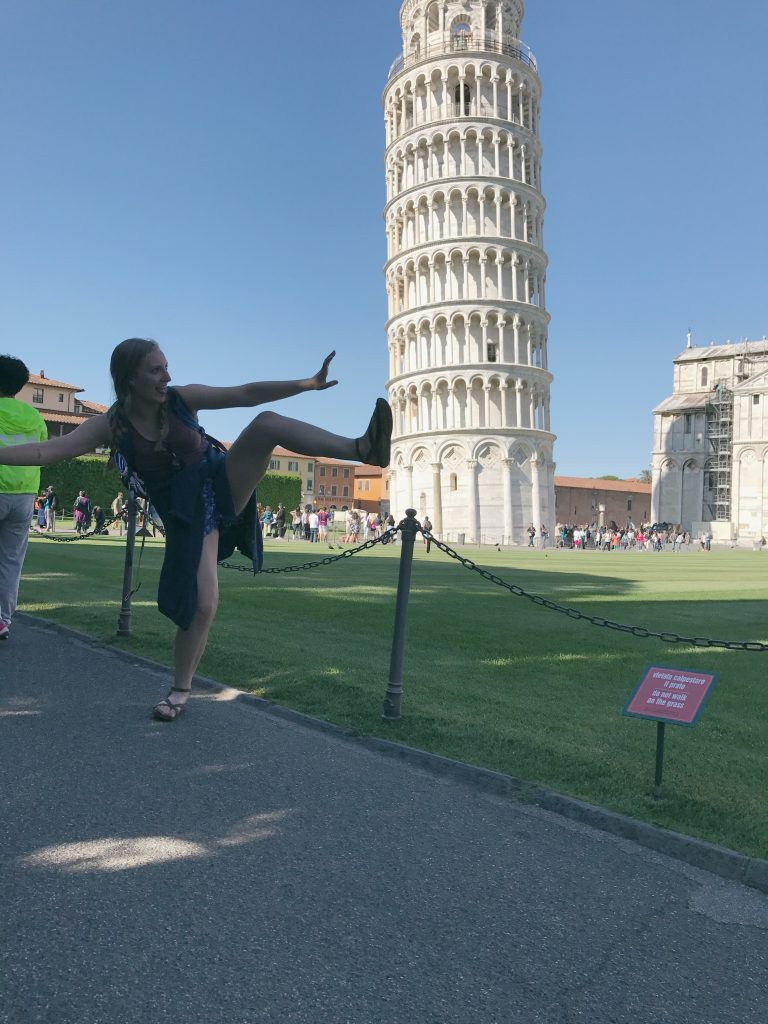 Jaycie's photo at the Leaning Tower of Pisa!
