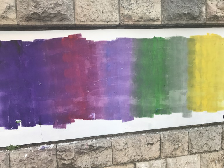 Elizabeth's photo of art in Jerusalem