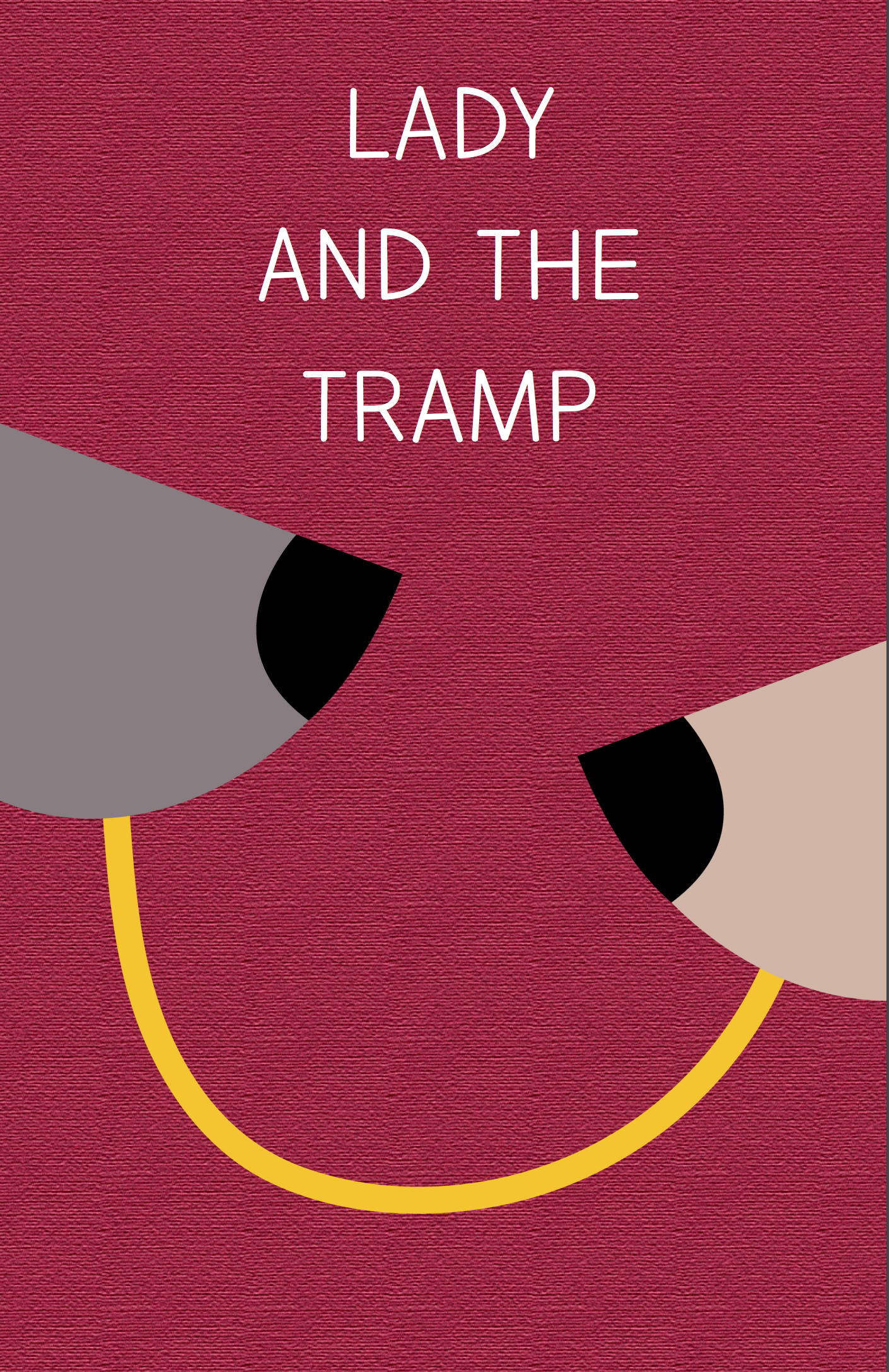 Alyssa's minimalist movie poster for Lady and the Tramp