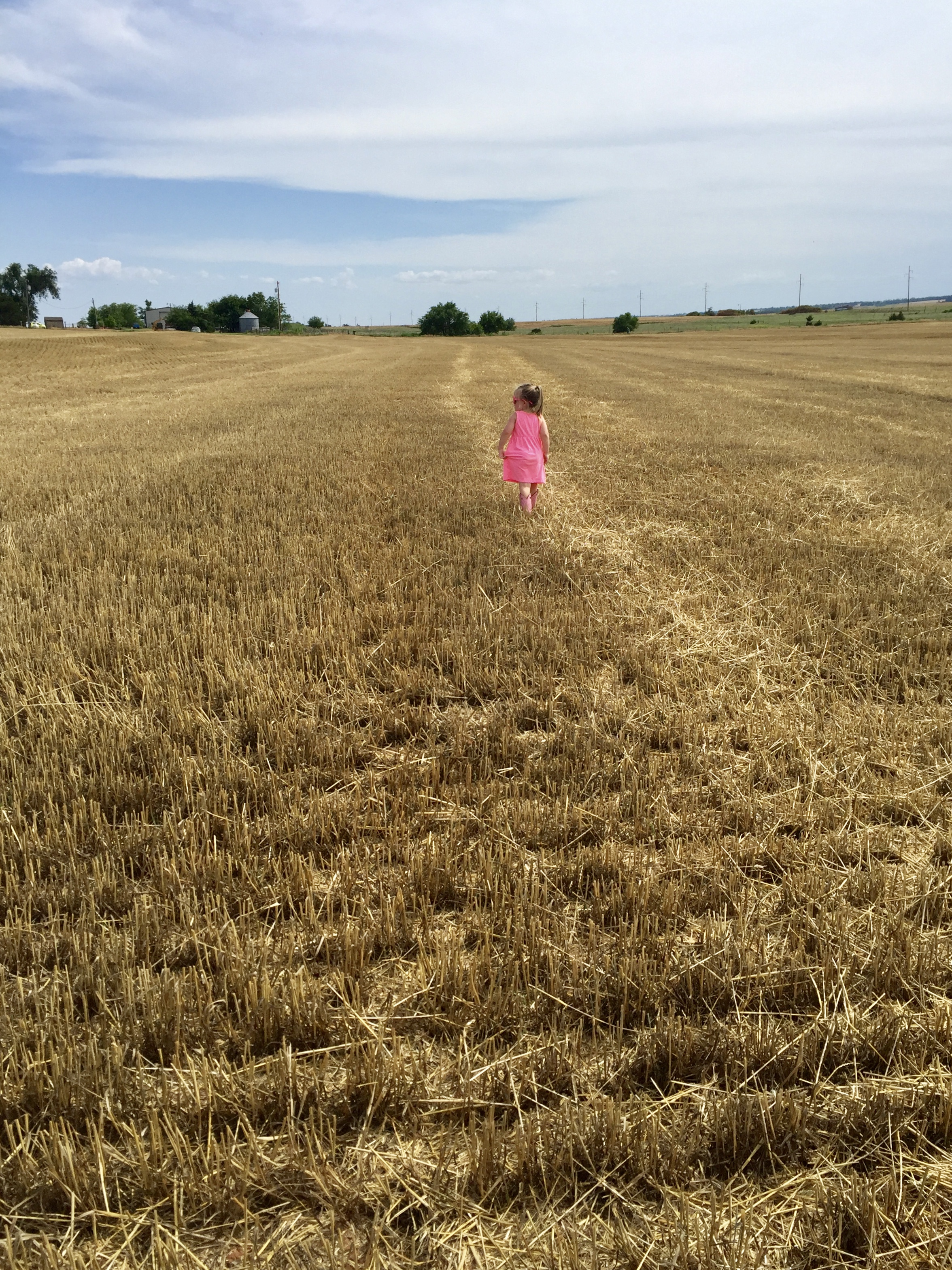 Morgan's photo of her cousin in her grandfather's field in Oklahoma