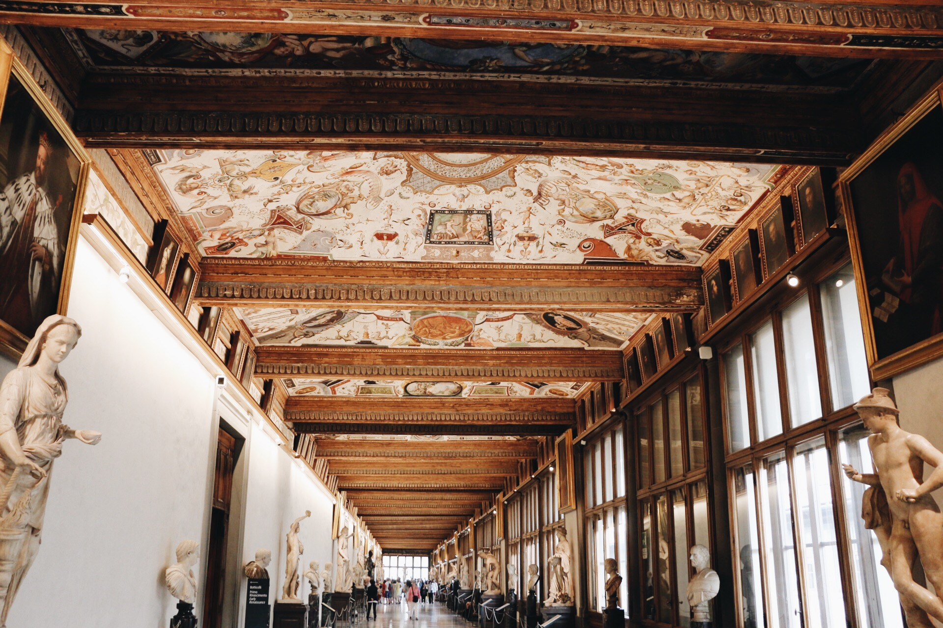 Kate's picture of the Uffizi Gallery Museum
