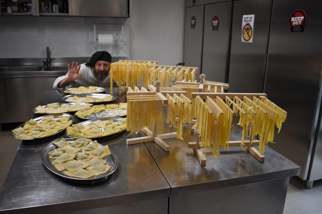 Mackenzie's picture of pasta making