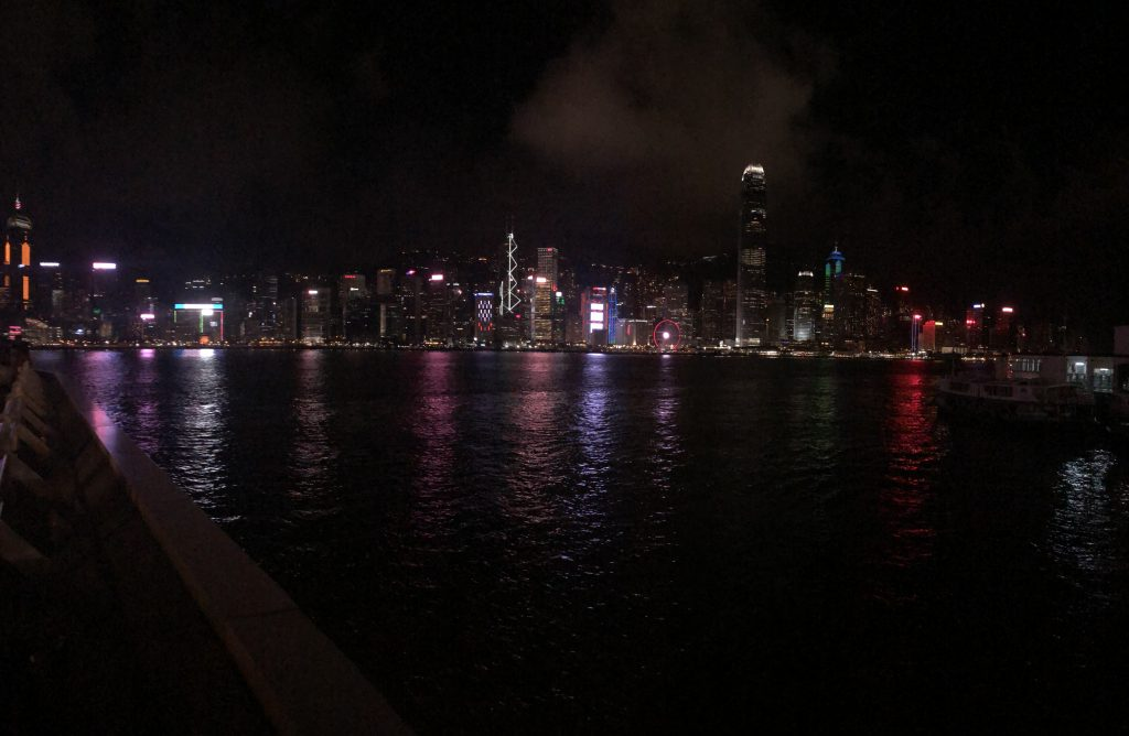 Picture of Victoria Harbor at night